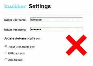 trova password twitter